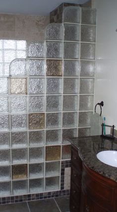 Glass block shower - Innovate Building Solutions