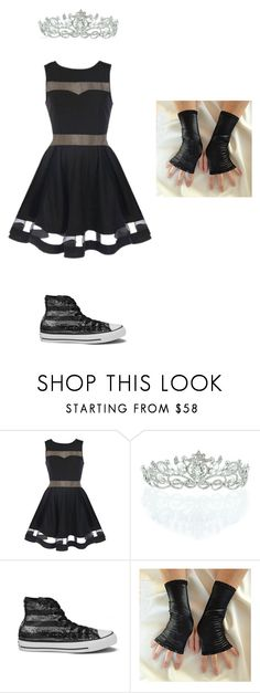 """Don't Judge Me"" by phoenix1053 ❤ liked on Polyvore featuring Kate Marie and Converse"