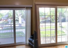 Before and After: Add window grids, add-on window grilles, snap-in french door grids, patio door grids. French Doors Bedroom, French Doors Patio, Sliding Patio Doors, Curtains Sliding Glass Door, Patio Door Coverings, Patio Door Curtains, Window Grids, Slider Window, Door Window Treatments
