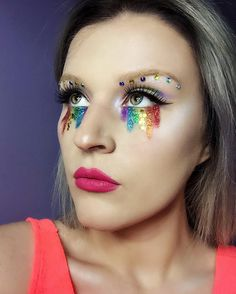 Glitter rainbow tears inspired by Pride 2017