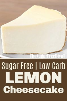 Low Carb Sugar Free Lemon Cheesecake #sugarfree #lowcarb #dessert #recipe #diy #keto #homemade #yummy