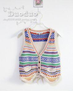 Knit waist Vest vest female vest
