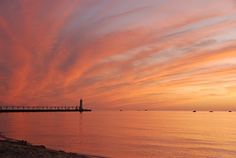 Manistee, Michigan - gorgeous lake michigan sunset!