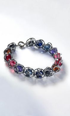 Bracelet with Swarovski® Crystal Beads and Sterling Silver Jumprings - Fire Mountain Gems and Beads