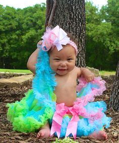 Take+a+look+at+the+Diva+Daze+Pink+Rainbow+Pettiskirt+-+Infant,+Toddler+&+Girls+on+#zulily+today!