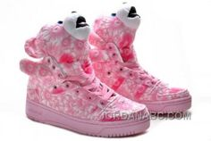 official photos 4e95d 635d4 Adidas Originals x Jeremy Scott Pink Flower Bear Shoes