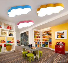 Cheap led energy saving lamp, Buy Quality lamp led light directly from China led number plate lamp Suppliers: Cartoon Fairytale Lovely Clouds Led Ceiling Light Design Colors Iron Acrylic for Kids Children's room kindergarten lamps Led Room Lighting, Kids Lighting, Room Lights, Lighting Ideas, Kids Ceiling Lights, Lighting Design, Kindergarten Interior, Kindergarten Design, Daycare Design