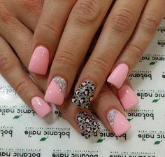 The cheetah nails could be painted in variety of colors and designs. Check out the collection of cute nail art design inspired exotic fashion style. Cheetah Nail Art, Cheetah Nail Designs, Cute Nail Art Designs, Pink Leopard Nails, Grey Nail Art, Get Nails, Fancy Nails, Love Nails, Pretty Nails
