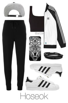 Trip with BTS - Hoseok by ari2sk on Polyvore featuring polyvore, fashion, style, T By Alexander Wang, adidas Originals, BillyTheTree and clothing