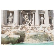 Metal Print: Trevi Fountain Rome Italy Metal Print - metal style gift ideas unique diy personalize