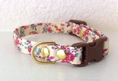 SALE Liberty Floral Cat Collar by cheridogdesign on Etsy