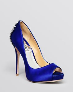Badgley Mischka Peep Toe Platform Evening Pumps - Kiara High Heel | Bloomingdale's