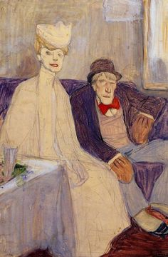 huariqueje: Odd Couple in a Waiting Room - Jules Pascin...