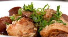 Chicken gumbo m. pølse af Brødrene Price, med inspiration fra de amerikanske sydstater. En smagfuld ret, der serveres med ris, og med sikkerhed er et hit