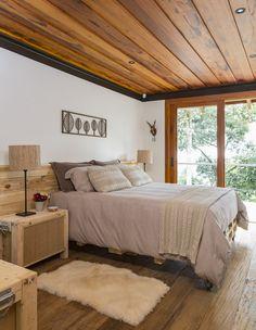 Casa de campo construída para apreciar a Serra da Mantiqueira - Constance Zahn Home Bedroom, Master Bedroom, Bedroom Decor, Home Design, Home Interior, Interior Design, Interior Ideas, My Dream Home, House Plans