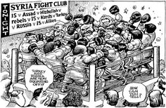 Notations On Our World (W-End Edition): On Right Now (As Only the Economist KAL would say it) Satirical Cartoons, Political Cartoons, Caricatures, Keep Calm, Slogan, Syria News, Cool Ties, Fight Club, Cartoon Memes