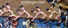 Crazy Quilt Seam Detail 463 from Pintangle.com