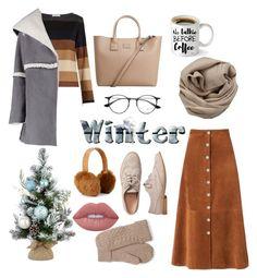 """Sweater winter set"" by tiwik on Polyvore featuring MaxMara, Boohoo, Diane Von Furstenberg, Gap, MANGO, Brunello Cucinelli, Ray-Ban and Lime Crime"