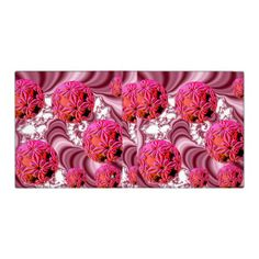 Raspberry Pink Vision, Abstract Snow Flakes Vinyl Binder