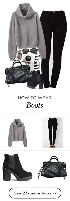 """Untitled #2360"" by sisistyle on Polyvore featuring moda, Balenciaga ve H&M"