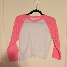 American Apparel cropped baseball raglan Cutoff cropped baseball tee. 3/4 sleeve. American Apparel Tops Tees - Long Sleeve