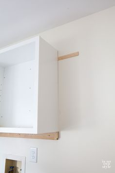 How to hang a wall cabinet the easy way -- A Pinch of Joy | Great ...