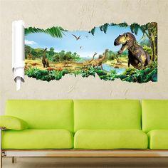 Dinosaurs https://walldecordeals.com/3d-dinosaurs-wall-stickers-jurassic-park-home-decoration-1460-diy-cartoon-living-room-animals-print-decals-mural-art-poster-5-5/