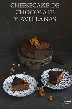 Atrapada en mi cocina: CHEESECAKE DE CHOCOLATE Y AVELLANAS
