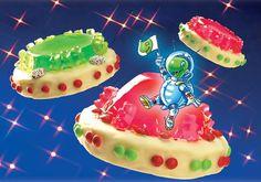 Süße Kuchen mit Götterspeise für Kinder