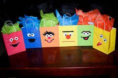 Sesame Street Favor Bags  Set of 10 any combo  your by daniradams, $20.00