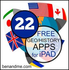 22 free history and geography apps for ipad (plus 90+ more for other areas of your school/homeschool) #edapps #homeschool