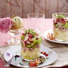 Eier-Schinken-Schichtsalat Rezept   LECKER