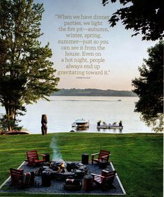 Just saw this lake house decorated by Thom Filicia Lake in House Beautiful and told my hubs he had to build it!