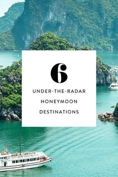 There are plenty of incredible off-the-beaten-path destinations that are romantic, exotic and memorable for a post-wedding getaway. Here are six non-traditional honeymoon ideas you should seriously consider…or at least just daydream about for now. Honeymoon On A Budget, Top Honeymoon Destinations, Honeymoon Cruise, Honeymoon Planning, Honeymoon Places, Romantic Destinations, Romantic Vacations, Romantic Travel, Honeymoon Ideas