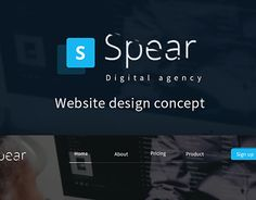 """Check out new work on my @Behance portfolio: """"Spear - one page website"""" http://on.be.net/1Rv0B5x"""