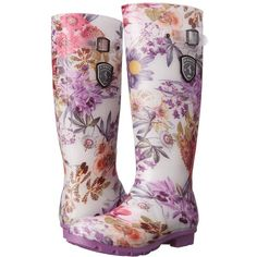 5aafbf2f0 Kamik Orchid (Purple Printed) Women s Rain Boots ( 70) ❤ liked on Polyvore  featuring shoes