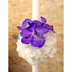 lumanari nunta din hortensie si orhidee vanda mov 4th Of July Wreath, Hanukkah, Wreaths, Home Decor, Decoration Home, Door Wreaths, Deco Mesh Wreaths, Interior Design, Garlands