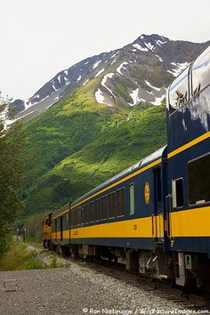 The Glacier Discovery Train at the Spencer Glacier whistlestop, Chugach National Forest, Alaska