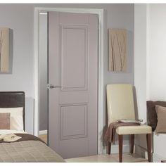 Arnhem 2 Panel Grey Primed Internal Door is 1/2 Hour Fire Rated - Lifestyle Image. #greydoor #interiordoor