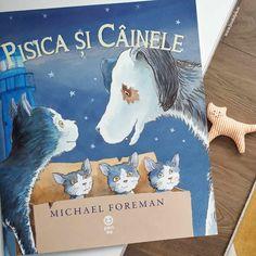 """O poveste frumoasă despre prietenie, respect, altruism și optimism, dedicată tuturor iubitorilor de animale. Cartea este scrisă de Michael Foreman, dublu laureat al premiului pentru literatură """"Kate Greenaway"""". Este editată de Editura Pandora M, într-o variantă paperback. Trei pisicuți se simt în siguranță alături de mămica lor până în momentul… Dog Books, Editorial, Children, Cover, Dogs, Young Children, Boys, Kids, Pet Dogs"""
