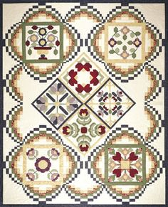 "The ""Pieces of  Baltimore"" ....12-18"" blocks to choose from. The Bargello Quilt border quilt finishes to 89"" x 111"""