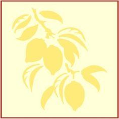 lemon stencil , lemons http://www.theartfulstencil.com/lemon-tile-1.html