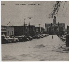 Main Street, Pittsboro, N.C. :: North Carolina Postcards