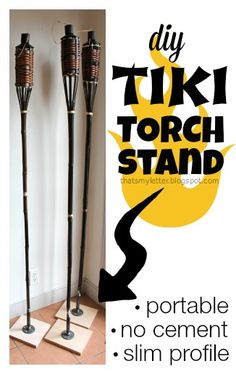 """That's My Letter: """"T"""" is for Tiki Torch Stand, diy tiki torch holder"""