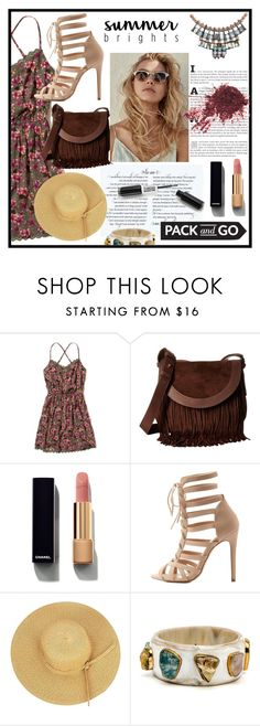 """""""Pack and Go"""" by merveavci on Polyvore featuring moda, Hollister Co., Frye, Chanel, Charlotte Russe ve Nocturne"""