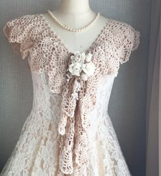 the crochet showel with white roses Lace Wedding, Wedding Dresses, White Roses, Crochet, Creema, Tops, Women, Fashion, Flower
