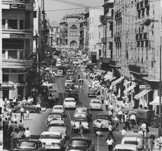 Street in Beirut - 1958 Casablanca, Baalbek, Cities, Beirut Lebanon, Miss World, Historical Pictures, Old City, North Africa, Heaven On Earth