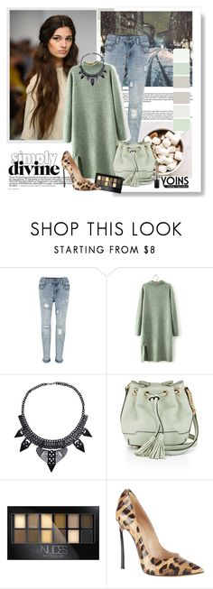 """YOINS"" by elly-852 ❤ liked on Polyvore featuring Rebecca Minkoff, Maybelline, Casadei and MAC Cosmetics"