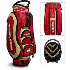 NFL San Fran 49ers Medalist Cart Bag by Team Golf. Buy now @ ReadyGolf.com