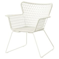 IKEA - HÖGSTEN, Karmstol, utomhus, Handflätad plastrotting ser ut som naturlig rotting, men håller bättre utomhus.Materialen i denna utomhusmöbel är underhållsfria.Enkel att hålla ren - torka bara av med en fuktig trasa.